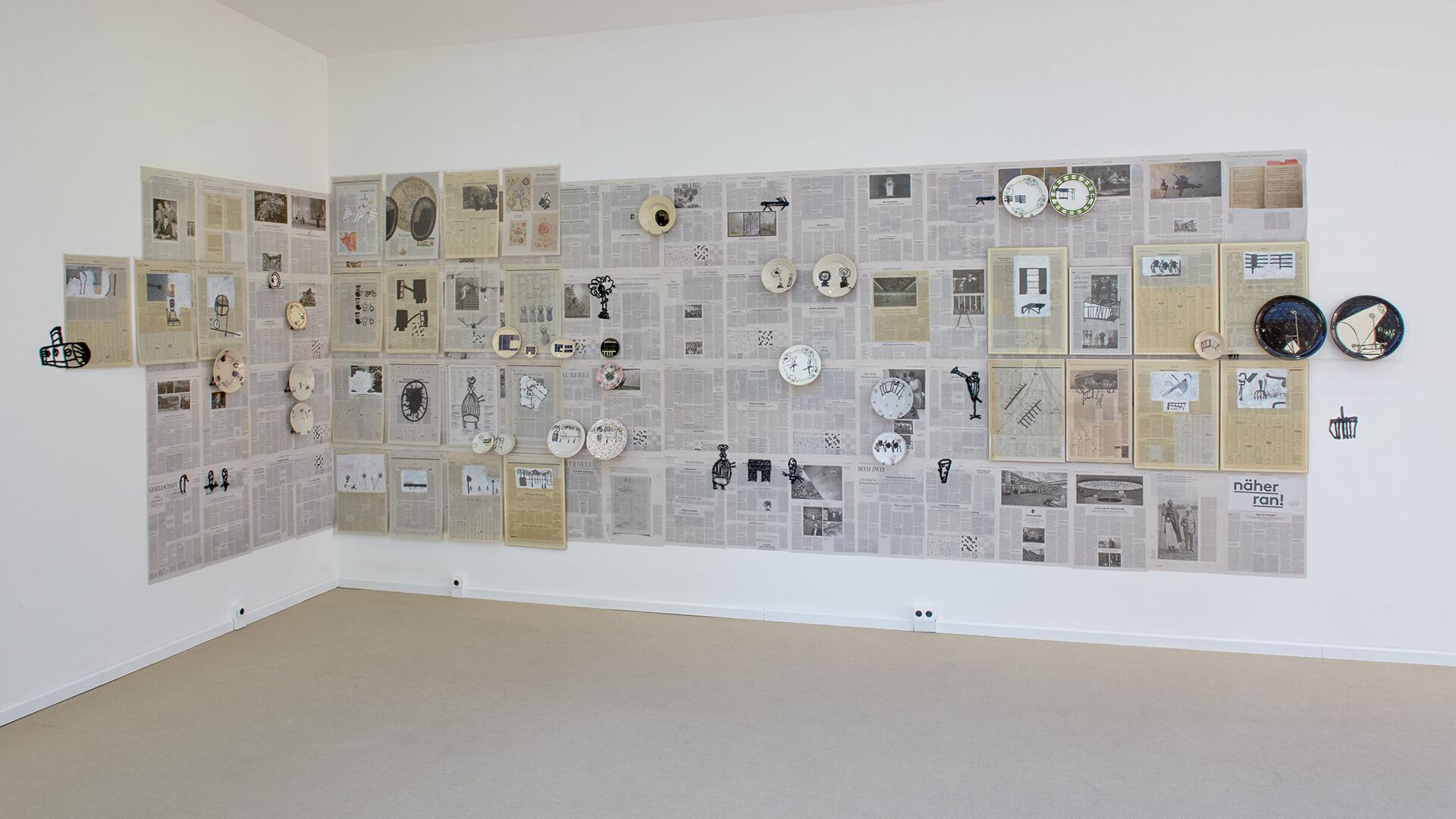 Kerstin Abraham Wandinstallation Westerwaldpreis Keramikmuseum Westerwald